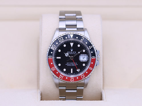 Rolex GMT Master II 16760 Coke Fat Lady - Box & Papers