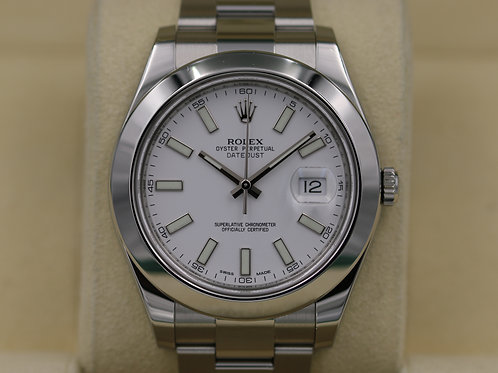 Rolex DateJust 116300 White Stick Dial 41mm - 2016 Box & Papers