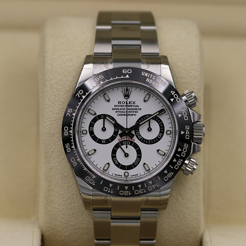 Rolex Daytona 116500 Ceramic White Dial Stainless Steel - 2018 Box & Papers!