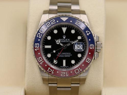 Rolex GMT Master II 116719 BLRO Pepsi 18K White Gold Red/Blue - Box & Papers