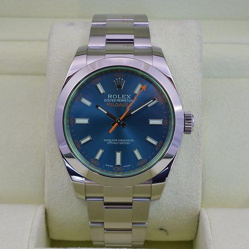 Rolex Milgauss 116400GV Z Blue Dial - Box & Papers