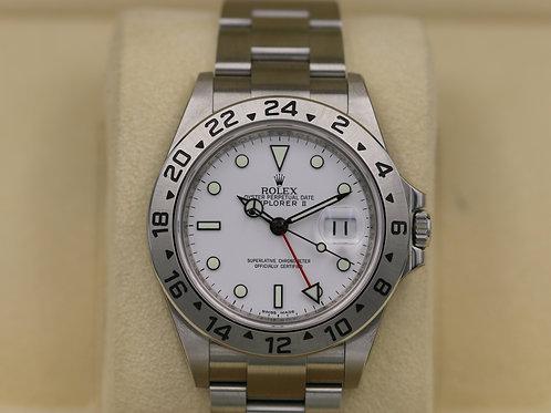 Rolex Explorer II 16570 White Dial Polar - G Serial 3186 - NOS Box & Papers 2011