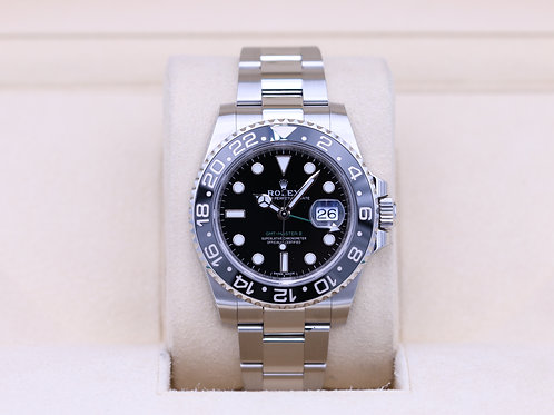 Rolex GMT Master II 116710LN Black Stainless - 2018 Box & Papers