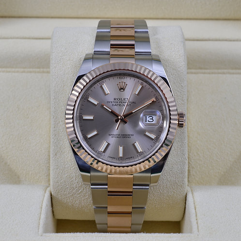 Rolex DateJust 41 18K Rose Gold/SS Sundust Dial 41mm - 2016 Box & Papers