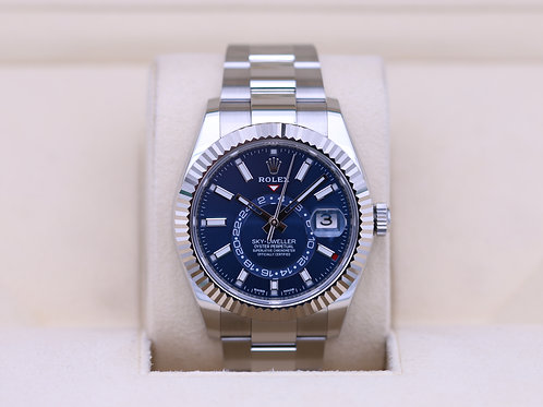 Rolex Sky-Dweller 326934 Stainless Steel Blue Dial - 2019 Box & Papers
