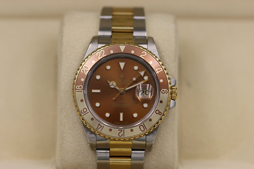 Rolex GMT Master II 16713 Root Beer Two-Tone - Box & Papers