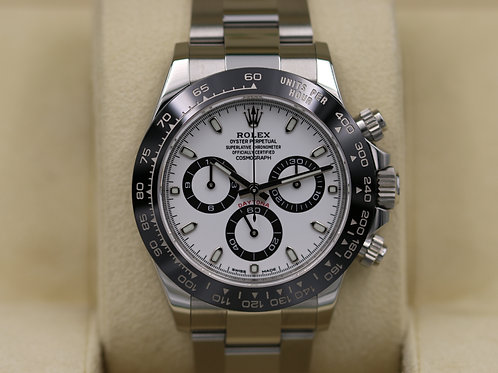 Rolex Daytona 116500 Ceramic White Dial Stainless Steel - Box & Papers