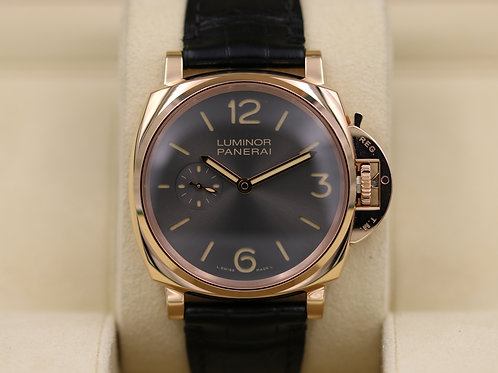 Panerai PAM 677 Luminor Due 3 Days Oro Rosso Anthracite Dial - 2017 Box & Papers