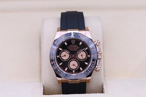 Rolex Daytona 116515LN Everose Black Dial Oysterflex - 2020 Box & Papers