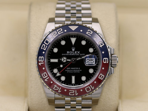 Rolex GMT-Master II Pepsi 126710 Stainless Steel Jubilee - 2018 Box & Papers!