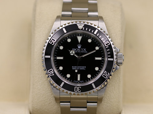 Rolex Submariner No Date 14060M Stainless - F Serial 2 Liner - Box & Papers