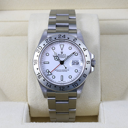Rolex Explorer II 16570 White SEL - A Serial - Box & Papers