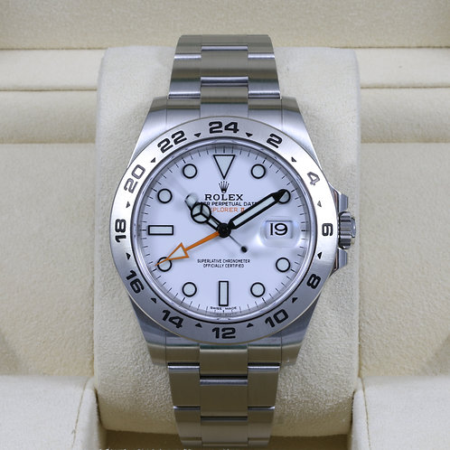 Rolex Explorer II 216570 White Dial 42mm - 2016 Box & Papers