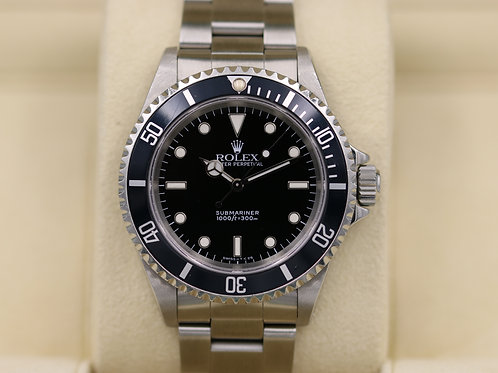 Rolex Submariner No Date 14060 - E Serial 2 Liner Tritium Dial - Box & Papers!