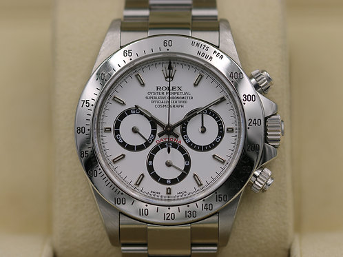 Rolex Daytona 16520 White Dial Zenith - A Serial SEL - Box & Papers
