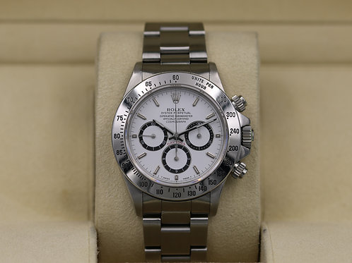 Rolex Daytona 16520 White Dial Zenith Stainless - X Serial Inverted 6