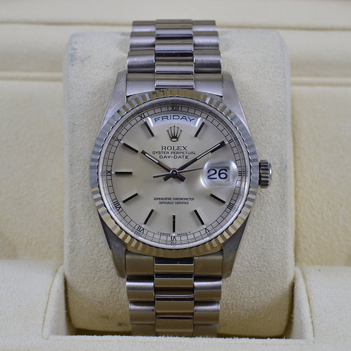Rolex Day-Date 1823918K White Gold - A Serial - Box & Papers