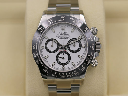 Rolex Daytona 116500 Ceramic White Dial Stainless Steel - 2017 Box & Papers
