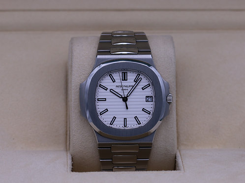 Patek Philippe Nautilus 5711/1A White Dial Stainless - 2018 Box & Papers