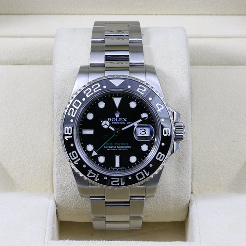 Rolex GMT Master II 116710LN Ceramic -Box & Papers