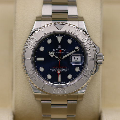Rolex Yacht-Master 116622 Blue Dial Stainless Platinum - Box & Papers