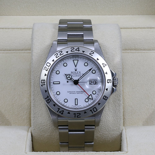 Rolex Explorer II 16570 White Dial - Z Serial - Box & Papers