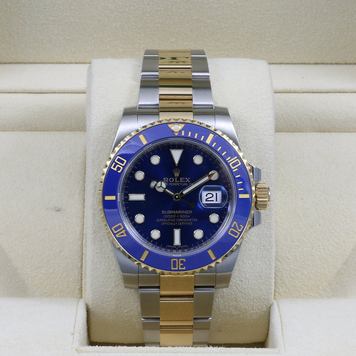 Rolex Submariner 116613LB Two-Tone Blue - 2017 Box & Papers