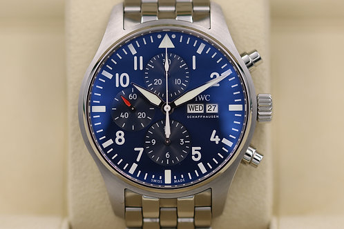 IWC Pilot Chronograph Le Petit Prince IW377717 Blue Dial 43mm - Box & Papers
