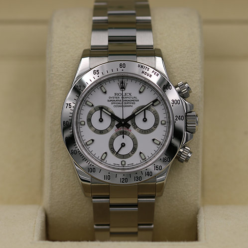 Rolex Daytona 116520 White Dial - Z Serial - Box & Papers