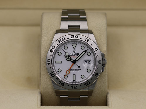 Rolex Explorer II 216570 White Dial 42mm - 2019 Box & Papers
