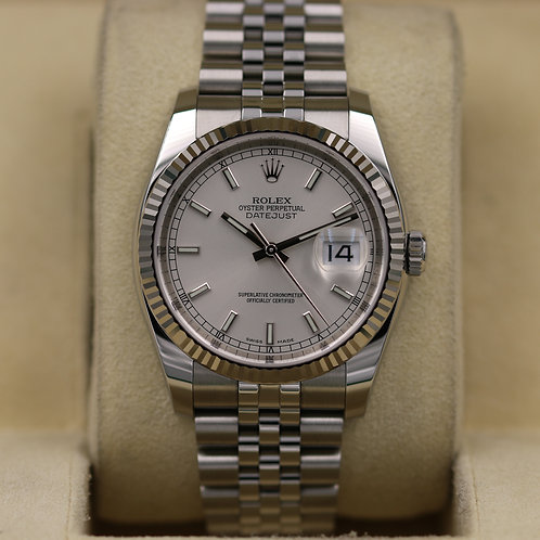 Rolex DateJust 116234 36mm Stainless/WG Jubilee - 2017 Box & Papers
