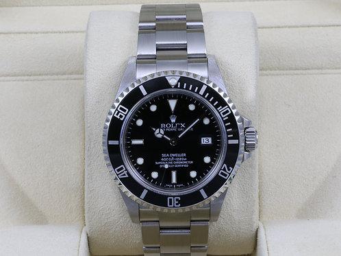 Rolex Sea-Dweller 16600 SD4K - D Serial No Holes Case - Box & Papers