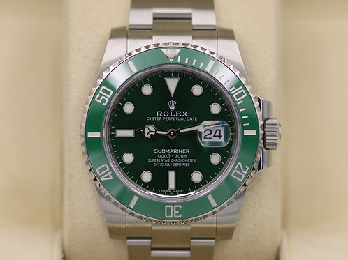 Rolex Submariner 116610LV Green Dial Ceramic Bezel Hulk - 2018 Unworn!