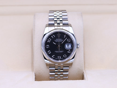 Rolex DateJust 116200 Black Concentric Dial Jubilee - 2018 Box & Papers