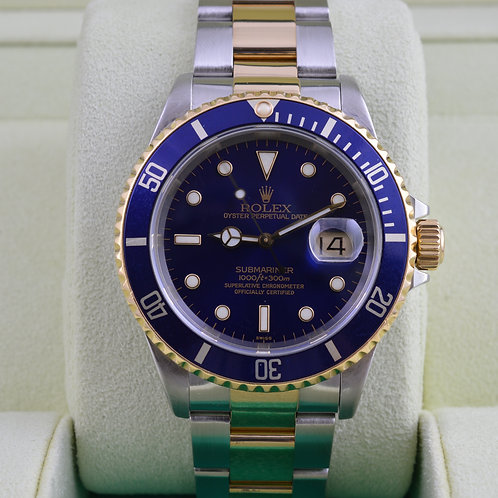 Rolex Submariner 16613 Two Tone Blue Dial