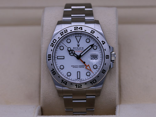 Rolex Explorer II 216570 White Dial 42mm Stainless - 2020 Brand New!
