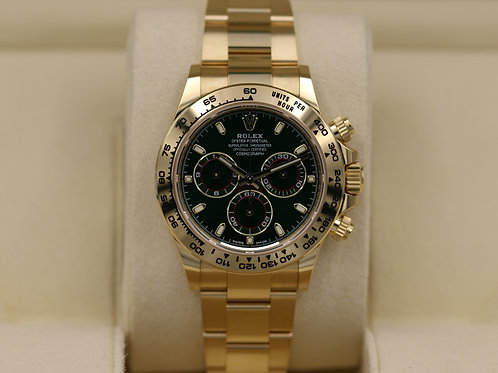 Rolex Daytona 116508 Yellow Gold Green Dial - 2019 Box & Papers
