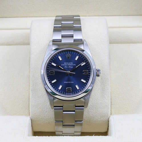 Rolex Air-King 14000 Blue Dial - Box & Papers
