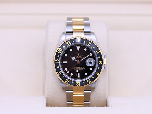 Rolex GMT Master II 16713 Two Tone Black Dial - A Serial