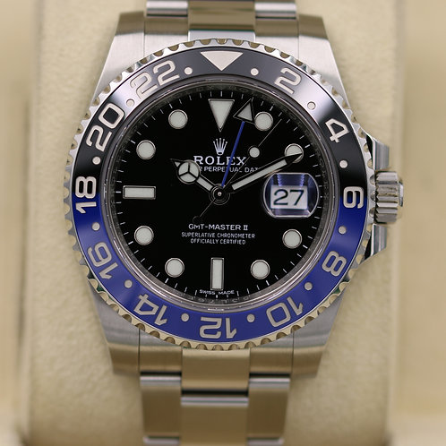 Rolex GMT Master II 116710BLNR Stainless - 2017 Box & Papers