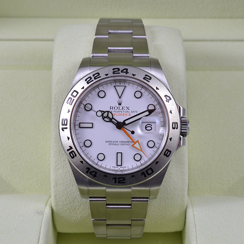 Rolex Explorer II 216570 White Dial - 2015 Box & Papers