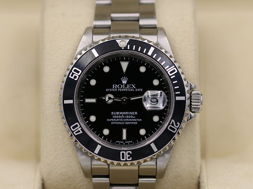 Rolex Submariner 16610 Stainless Steel - P Serial Holes Case SEL - Box & Papers