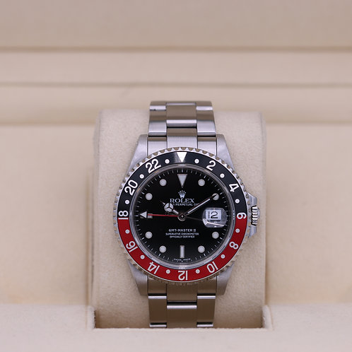 Rolex GMT Master II 16710 Coke - A Serial - Box & Papers