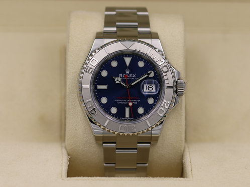 Rolex Yacht-Master 116622 Blue Dial Stainless Platinum - 2018 Box & Papers