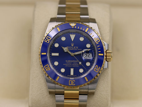 Rolex Submariner 116613LB Ceramic Blue Two Tone 18K Gold - 2018 Box & Papers!