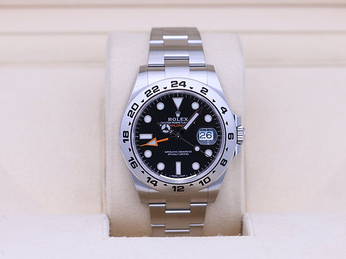 Rolex Explorer II 216570 Black Dial 42mm Stainless - 2020 Box & Papers