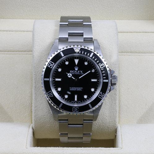 Rolex Submariner No Date 14060 - Tritium Dial - X Serial