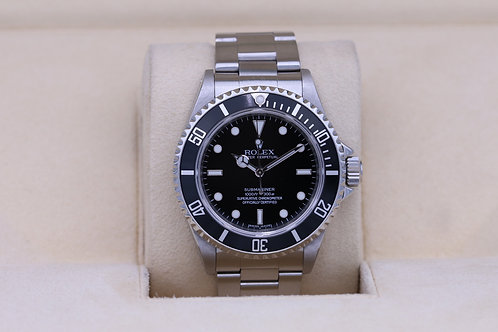 Rolex Submariner No Date 14060M - V Serial 4 Liner - Box and Papers
