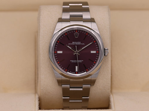 Rolex Oyster Perpetual 114300 Grape Dial 39mm - 2019 Box & Papers