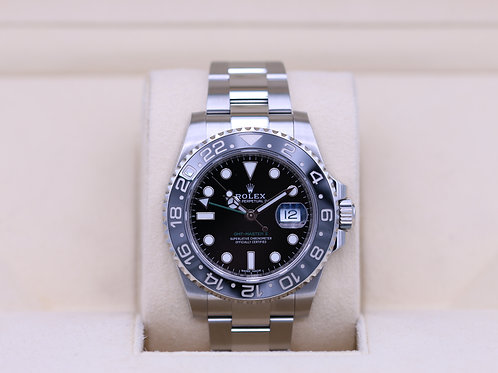 Rolex GMT Master II 116710LN Black Stainless - 2019 Box & Papers